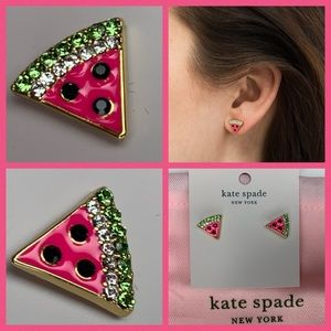 Kate Spade Watermelon 🍉 Crystal Earrings NWT